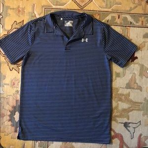 Dri-Fit Under Armour Polo Youth XL Navy and gray